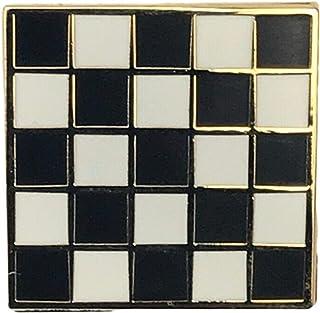 Mosaico, placcato In oro, stile massonico-Spilla da bavero, In confezione regalo