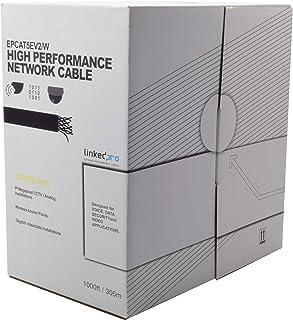 LinkedPro EPCAT5EV2/W Bobina de Cable, Cat5E, Color Blanco, 1000 Feet