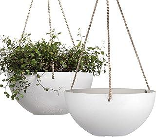 White Hanging Planter Basket - 10 Inch Indoor