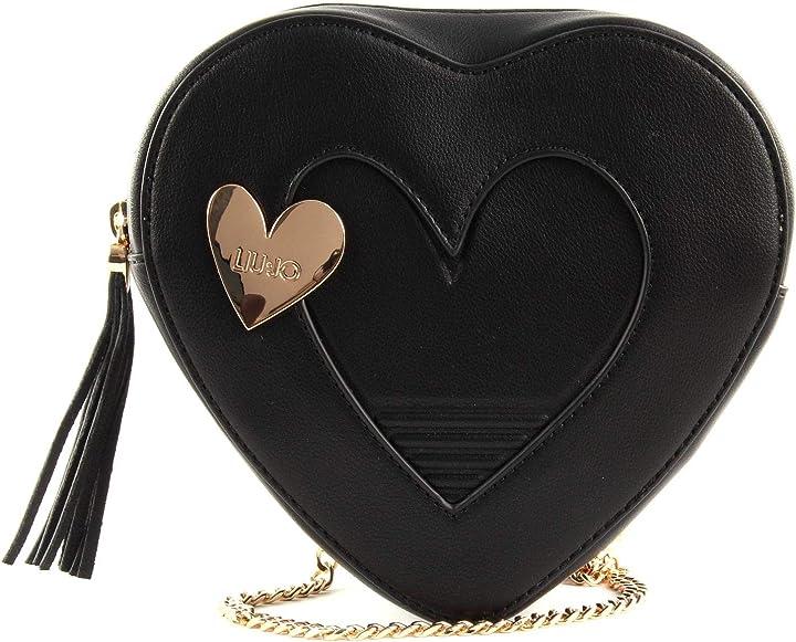 Borsa cuore donna nero uni liu jo na0071 e0002 NA0071-E0002-22222
