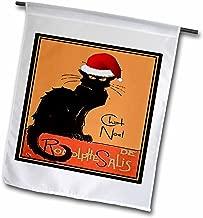 3dRose fl_47077_1 Le Chat Noel-Advertising, Art Nouveau, Black Cat, Cat, Cats, Chat Noir, Le Chat Garden Flag, 12 by 18-Inch