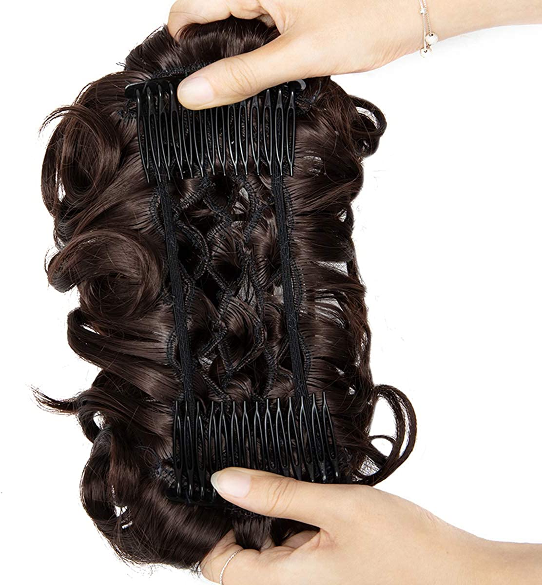 Messy Curly Hair Bun Extensions Str Ranking TOP14 Under blast sales Hairpiece Updo Easy Chignons