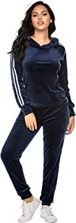 Tracksuit Sets Womens 2 Piece Sweatsuits Velour Pullover Hoodie & Sweatpants Jogging Suits Outfits
