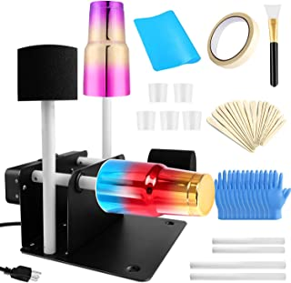 4 Cup Turner for Crafts Tumbler-Professional Cup Spinner Cuptisserie Turner Kit with 2 Ways Rotation Slient Motor for DIY ...