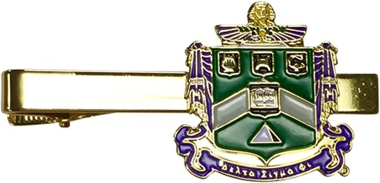 Delta Sigma Phi Color Crest Tie Clips