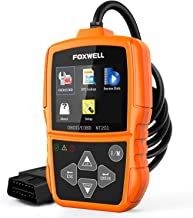 FOXWELL NT201 Auto OBD2 Scanner Check Car Engine Light Code Reader OBD II Diagnostic Scan Tool Emission Analyzer(New Version)