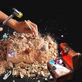 Gem Dig Kit Dig Up 18 Real Gemstones | Great Science, Gemology, Mining Gift Kids, Boys Girls | Rocks, Minerals, Excavation...