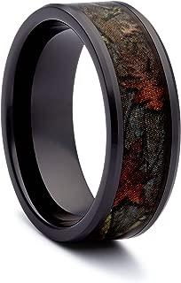 Black Camo Wedding Rings by #1 CAMO - Camo Promise Rings - Black Ceramic