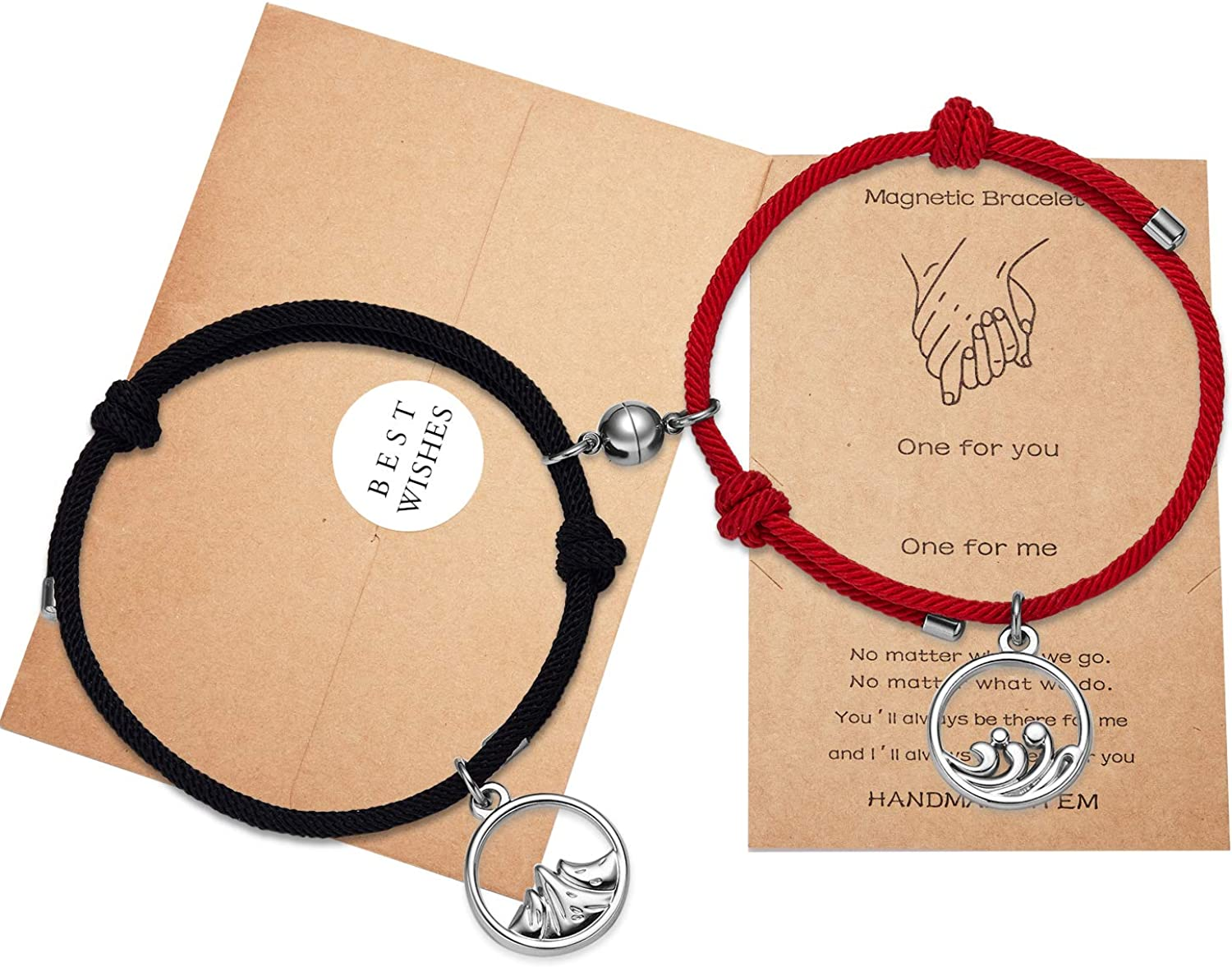 Ldurian Magnetic Spring new work one after another depot Personalized Couple Gifts Bracelets F Valentine