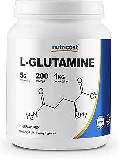 Nutricost L-Glutamine Powder 1 KG - Pure L Glutamine - 5000mg per Serving - High Purity