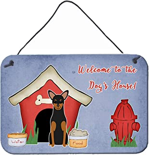 """Caroline's Treasures BB2782DS812 Dog House Collection Manchester Terrier Wall or Door Hanging Prints, 8"""" x 12"""", Multicolor"""