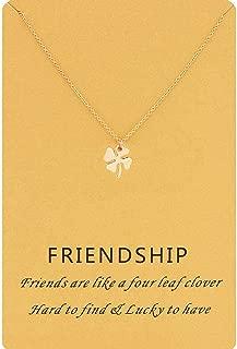 Women Message Card Lucky Pendant Necklace