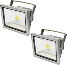 SEIKOH LED投光器 20W 暖色 電球色 3000K 電源コード 3M 広角 防水 2個セット A42BWSET2