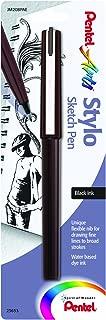 Pentel Arts Stylo Sketch Pen, Black Ink, 1 Pack (JM20BPAE)