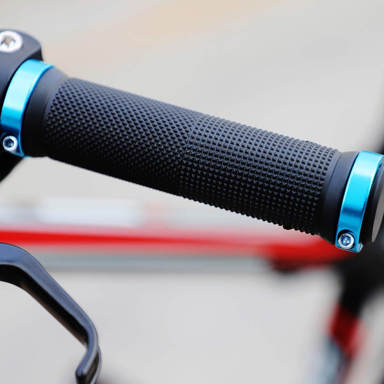 Bicycle Jueapu Bike Grips Double Locking Bike Include 2 Handlebar Caps Mountain Bike Handlebar Grips Aluminum Alloy