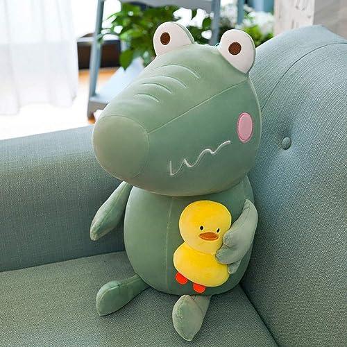 GJC Kissen Down Cotton Creative Cartoon Crocodile Doll Plush Toy Cute Kissen Ferienk ,Grün,70CM