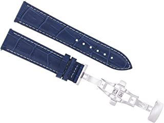 24MM LEATHER WATCH STRAP BAND FOR BREITLING NAVITIMER COLT BENTLEY ABYSS BLUE WS
