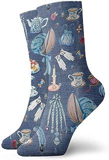 Kevin-Shop, Jane Austens Cosas favoritas Calcetines Cortos Deportivos clásicos de Ocio 30cm / 11.8 Pulgadas Adecuado para Hombres Mujeres