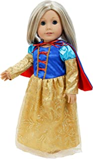 BJDBUS 1 Set Clothes Princess Dress with Cloak Fairy Tale Inspired Outfit for 18 Inch Doll