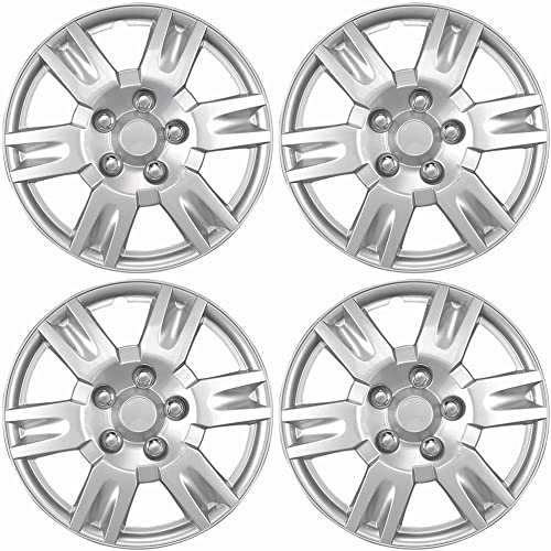wholesale 16 inch Hubcaps Best for 2003-2006 Mitsubishi Outlander online sale - (Set of 4) Wheel Covers 16in Hub Caps Silver Rim Cover online - Car Accessories for 16 inch Wheels - Snap On Hubcap, Auto Tire Replacement Exterior outlet sale