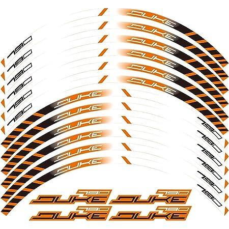 MC Motoparts Autocollant int/érieur pour jantes 17 pour 1290 SUPER DUKE R 890 790 125 390 DUKE 690 SMC Orange