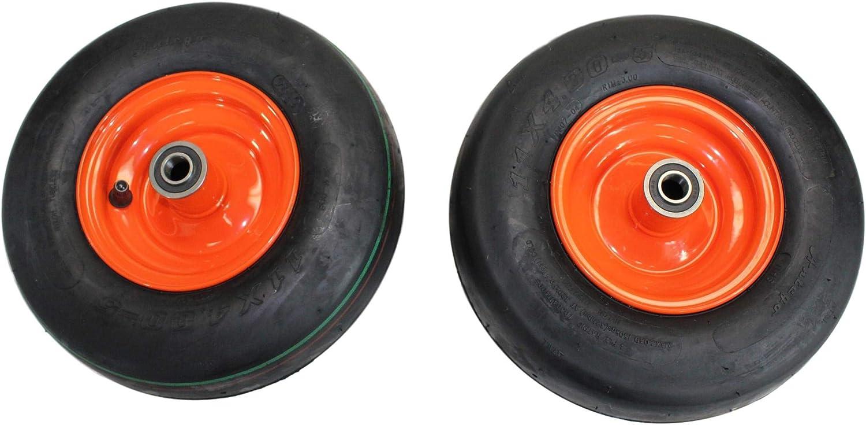 Houston Mall Set of 2 11x4.00-5 Tires 5.25 4 Orange Kubota Ply for Wheels Shipping included