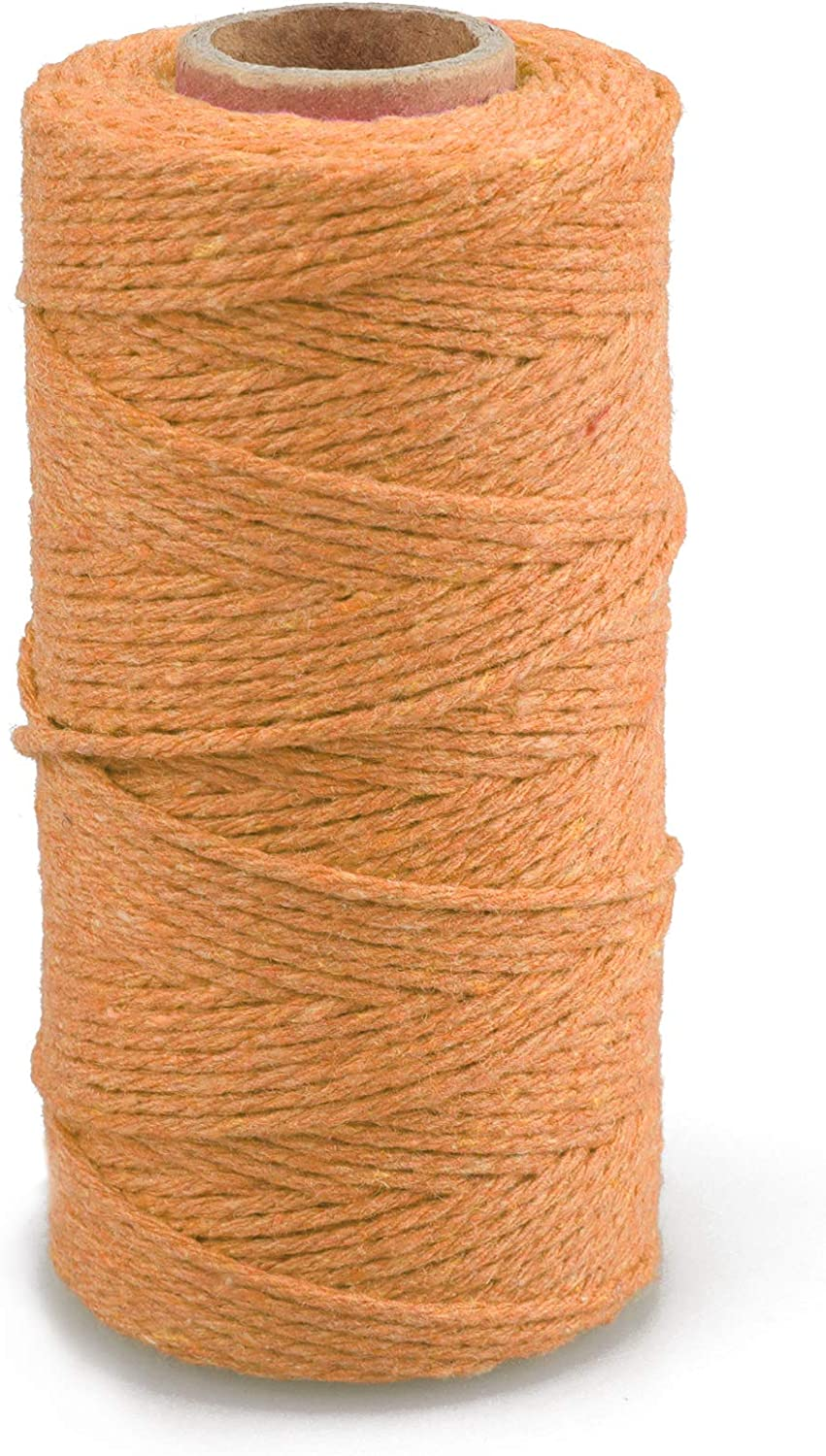 jijAcraft 2MM Cotton String 100M Yellow String for Crafts Gift Wrapping Packing