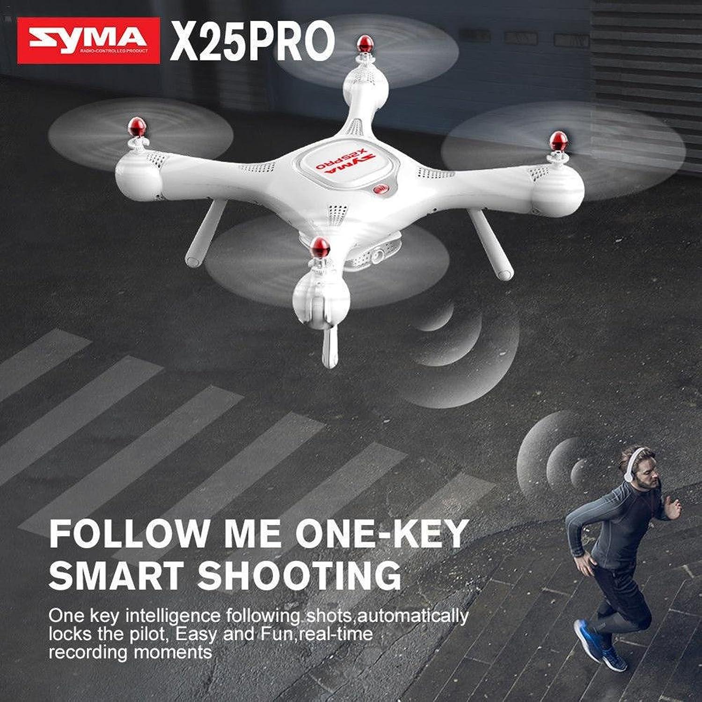 Quadcopter RC Drohne mit Camera HD, Syma x25Pro Drohne 2.4GHz GPS WIFI FPV, Funktion Altitude halten, 360Grad Flips, Modus ohne kopf