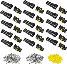 ZXYAN 2-poliger 10-poliger Kit-Elektrokabel-Steckverbinder Stecker 20-16 AWG IP67 Wasserdichtes PA66-Nylongeh/äuse 1,5-mm-Serie Anschlussbuchsen AC//DC-Stecker