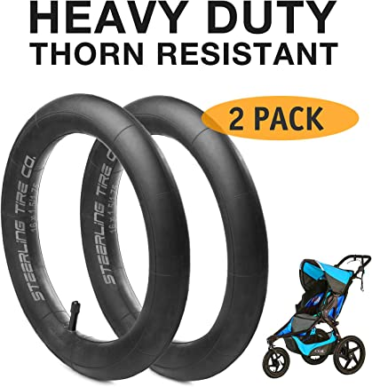 [2-Pack] 12.5'' x 1.75/2.15 Heavy Duty Thorn Resistant Front Inner Tire Tube of All BOB Revolution Strollers, Stroller Strides and CE & AW - The Perfect BOB Stroller Tire Tube Replacement