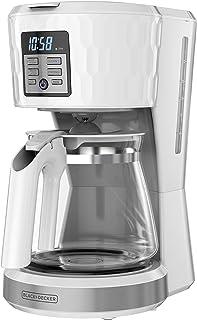 قهوه ساز قابل برنامه ریزی 12 فنجانی BLACK DECKER Honeycomb Collection ، با Premium Textured Finish ، CM1251W-1 ، سفید