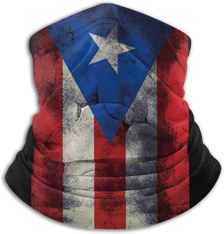 Crack Puerto Rico Flag Winter Neck Warmer Gaiter Ski F Oklahoma City Mall Balaclava Opening large release sale