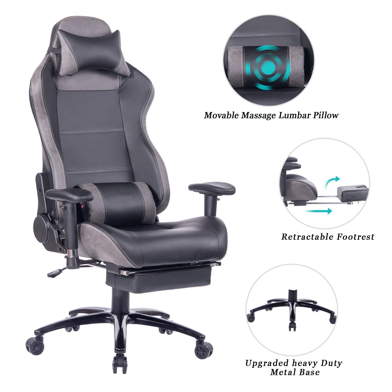 HEALGEN Computer Reclining Footrest Headrest