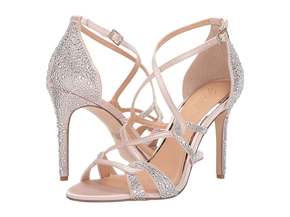 Jewel Badgley Mischka Gweny (Champagne Satin) High Heels