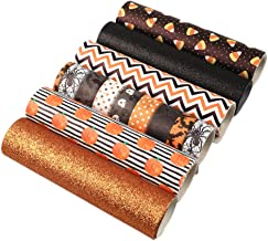 David Angie Halloween Theme Faux Leather Sheet Assorted Synthetic Leather Fabric 6 Pcs 7.9