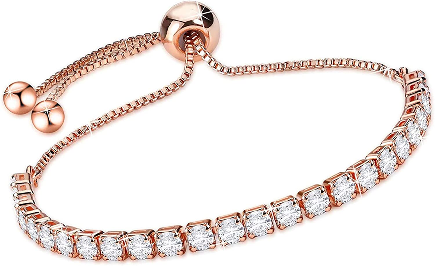 14K Cheap super Ranking TOP20 special price Gold Plated Cubic Zirconia Tennis Women for Rose G Bracelets
