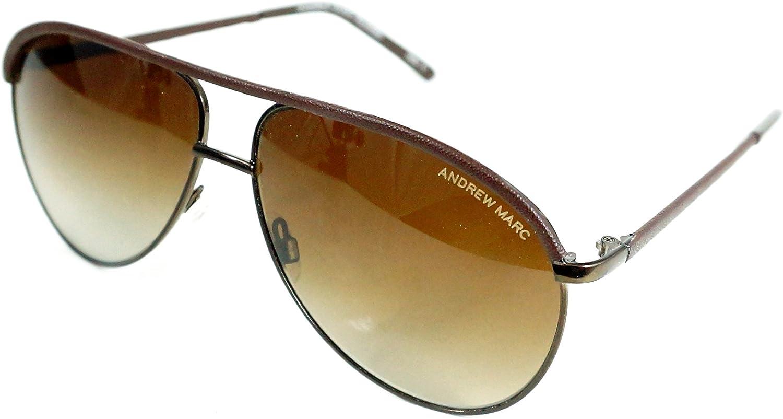 ANDREW MARC AMP 452201 60mm Aviator Polarized Sunglasses