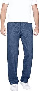 Men's Big & Tall Loose-Fit Side Elastic 5-Pocket Jeans