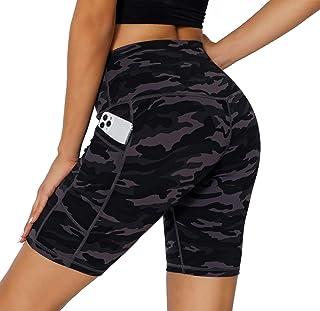 SERHOM Women's Yoga Shorts, Workout Shorts for Women with Pockets High Waist Bike Biker Shorts for Women Running Shorts