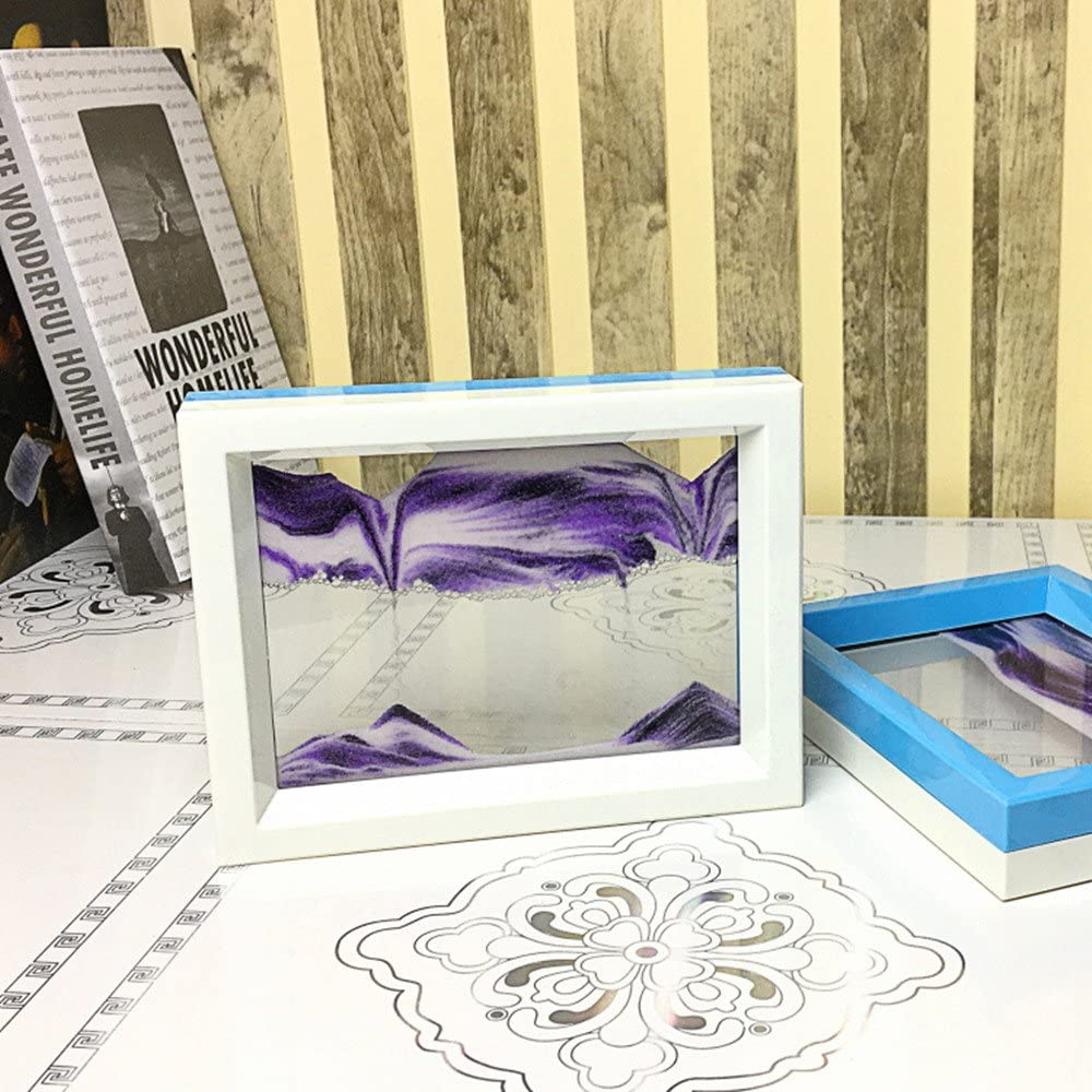 CooCu Moving Sand Art Framed White 2021 autumn and winter new service Black Picture Purple