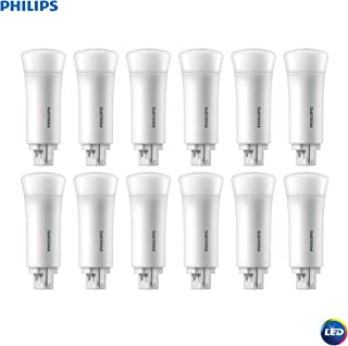 Philips 533975 LED Energy Saver PL-C Compact Light Bulb: 550-Lumen, 2700-Kelvin, 5 (13-Watt Equivalent), 4-Pin G24Q Base, Frosted, Soft White, 12-Pack, 12 Piece