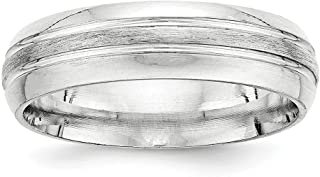 ICE CARATS 925 Sterling Silver 6mm Brushed Wedding Ring Band Size 13.5 Fancy Fine Jewelry Ideal Gifts For Women Gift Set From Heart