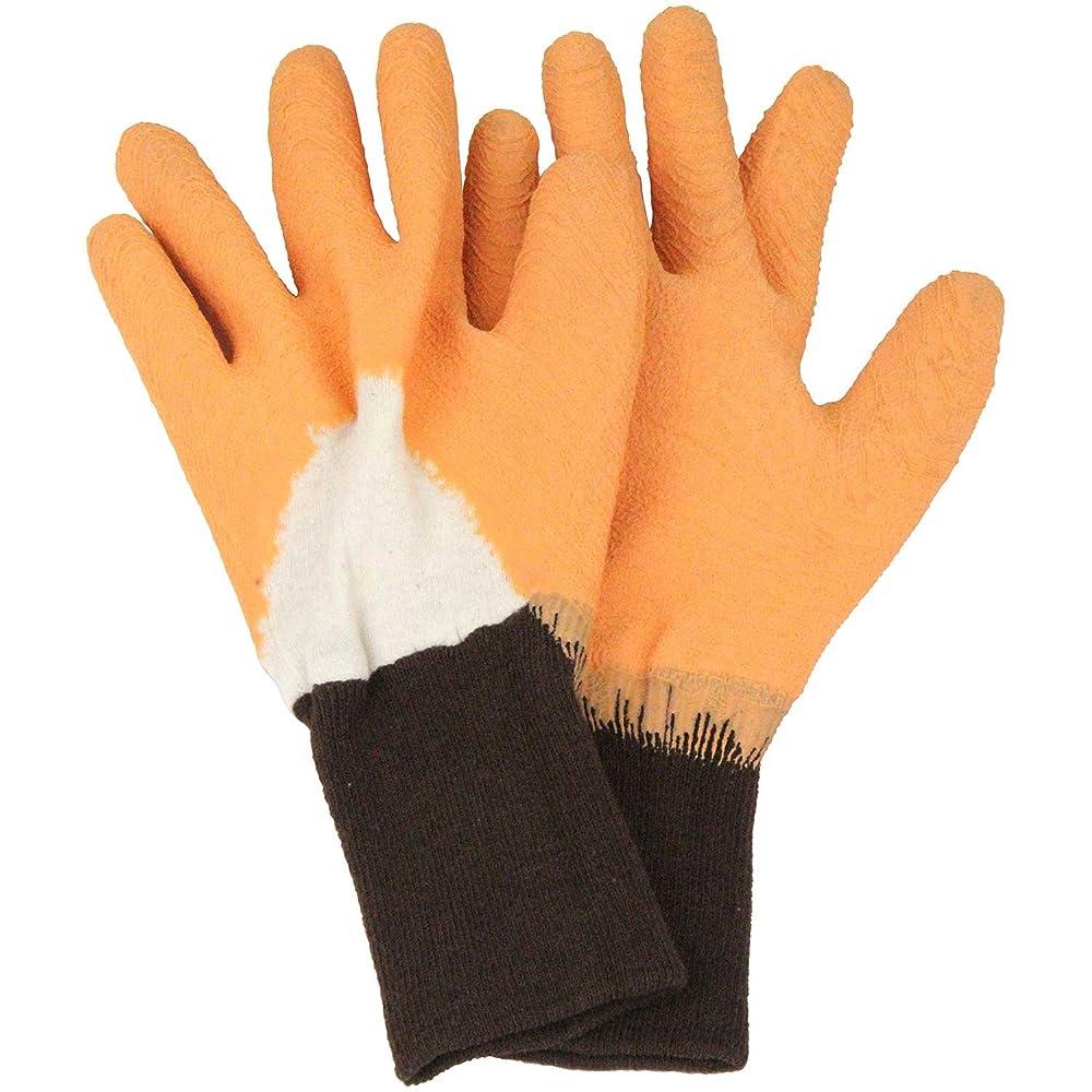 群衆結論ギャザーセフティー3 トゲがささりにくい手袋 オレンジ L