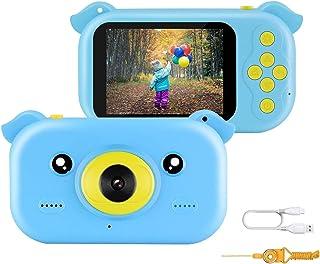 JAMSWALL Appareil Photo pour Enfants, Mini Caméra Numérique Rechargeable Ultra-Mince 12MP Jouet, 1080P 2,4 Pouces Cadeau C...