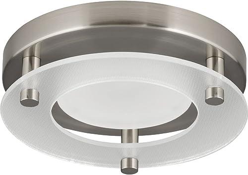 wholesale Progress Lighting P8247-09-30K LED outlet sale Flush popular Mount Close-to-Ceiling, Nickel outlet online sale