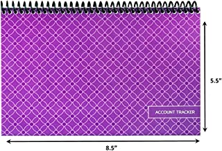 Superior Check and Debit Card Register - Simple Account Tracker - W I D E Edition - Purple 8.5 inch x 5.5 inch