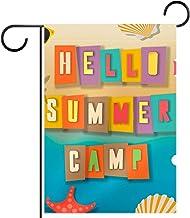 Huis Tuin Vlag DubbelzijdigLente Zomer Yard Outdoor Decoratie 12x18 inch, zomer kamp voor kinderen