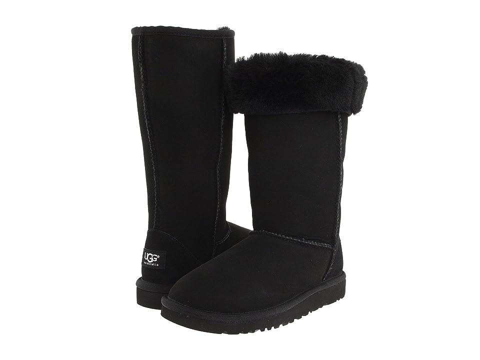 UGG Kids Classic Tall (Little Kid/Big Kid) (Black) Girls Shoes