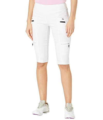 Jamie Sadock Skinnylicious 24.5 Knee Capris with Control Top Panel (Sugar White) Women