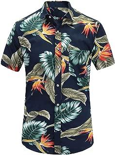 Oudiy Short Sleeve Men Shirt Casual Shirt Fit Summer Pattern Cotton Dress Shirts Plus